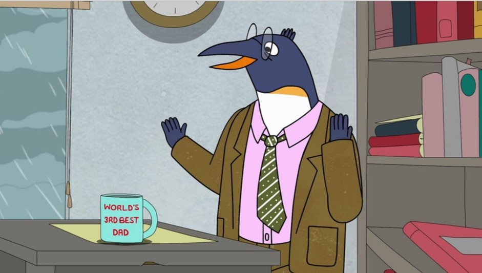 Picture of Pinky Penguin, Bojack Horesman's failing publishing agent