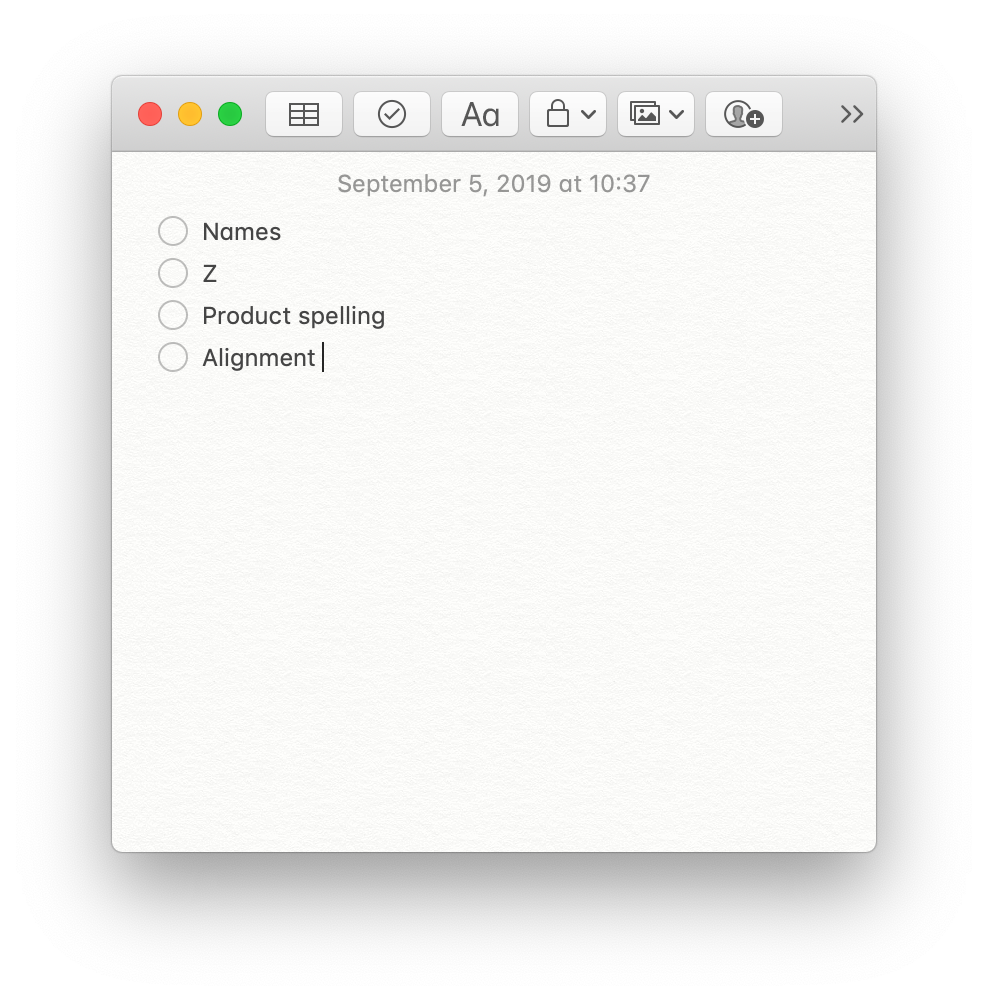ux writing checklist example