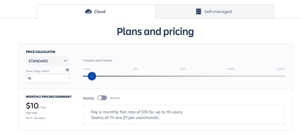 jira pricing plan design 1