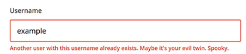 error message by mailchimp