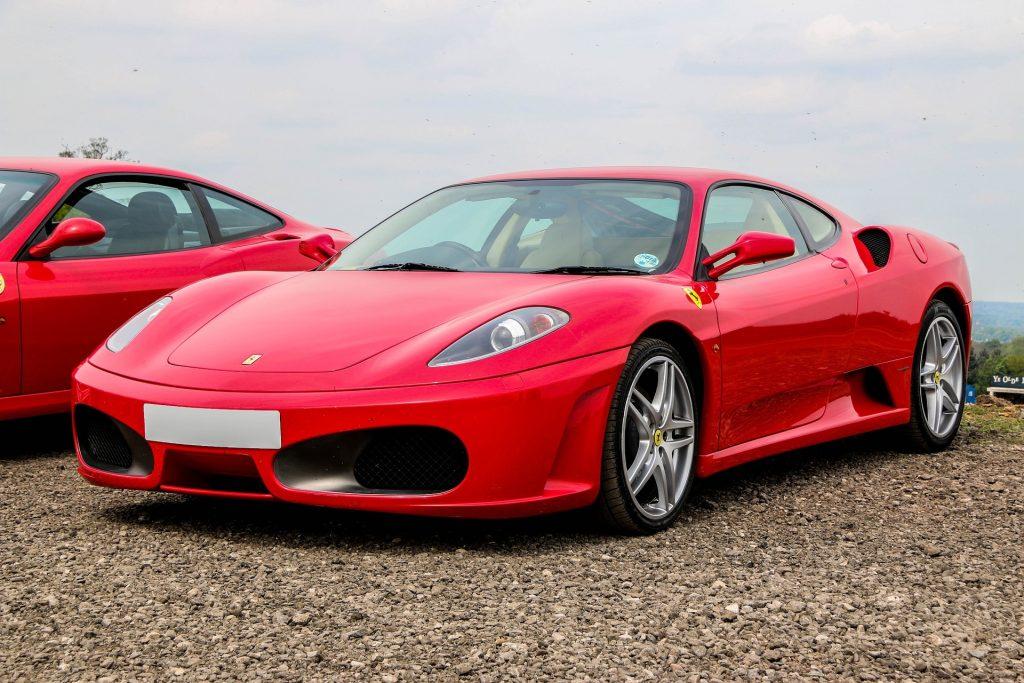 A red Ferrari