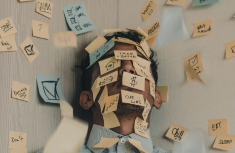 main picture guy with sticky notes