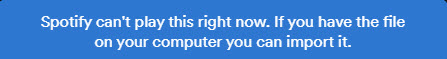 spotify's error message